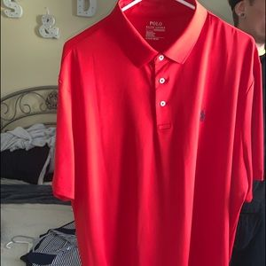 Red Polo Ralph Lauren Performance shirt